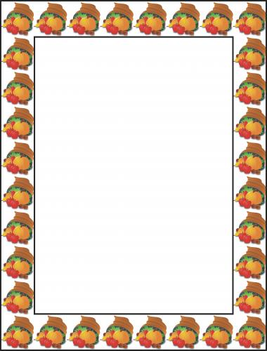 Free Thanksgiving Borders and Frames 3 - Free Clipart