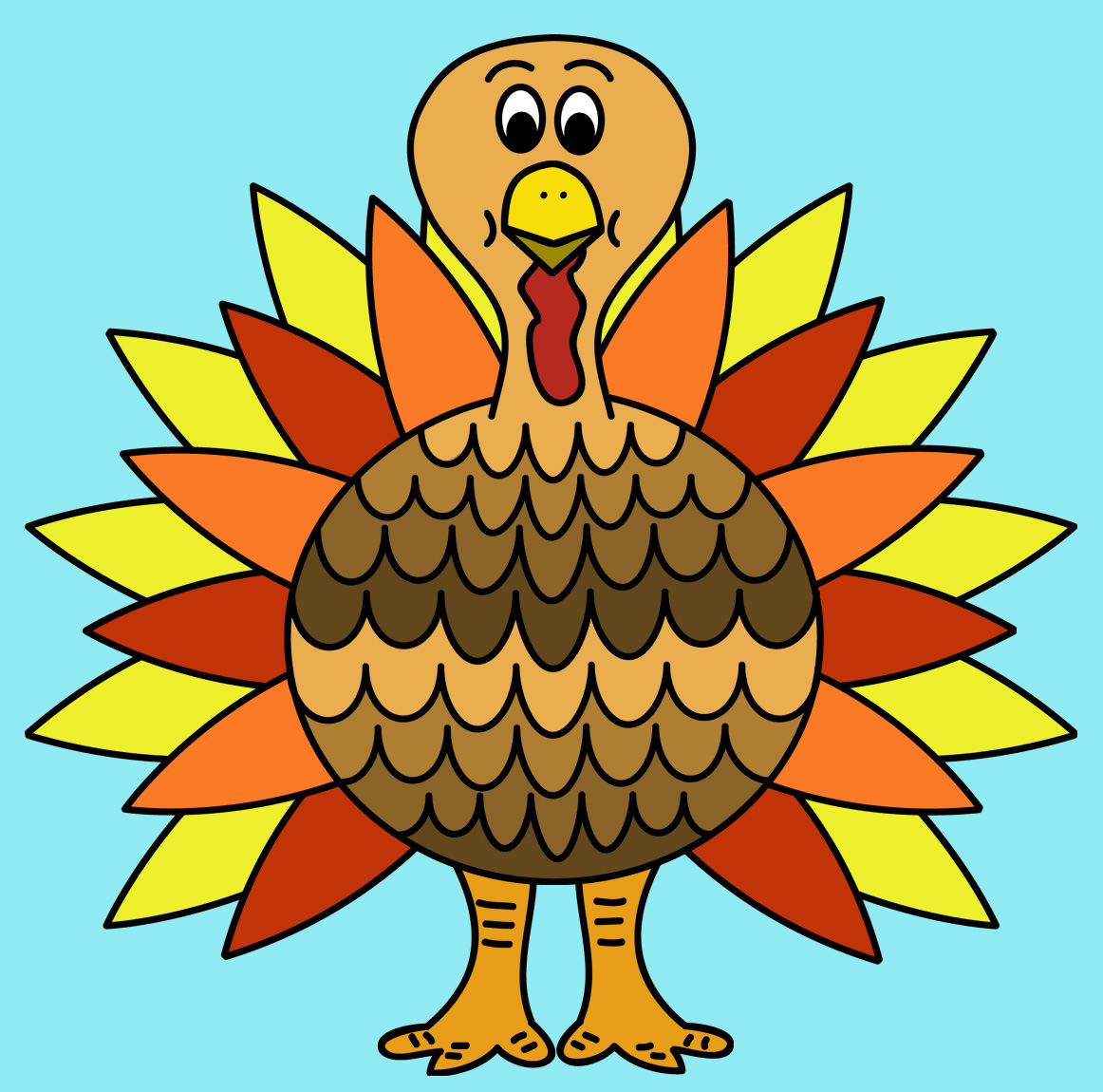 66 Turkeys Clipart Clipartlook