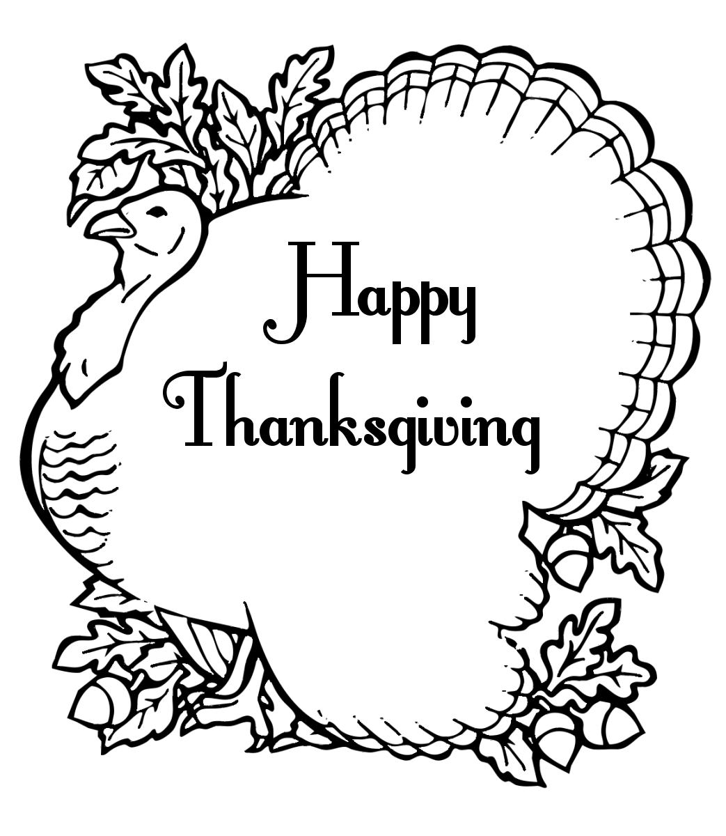 Free Thanksgiving Clipart. Search Terms: black and white ...