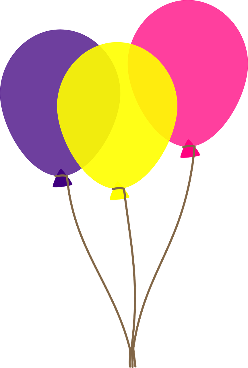 Free Three Colorful Balloons Clip Art-Free Three Colorful Balloons Clip Art-9