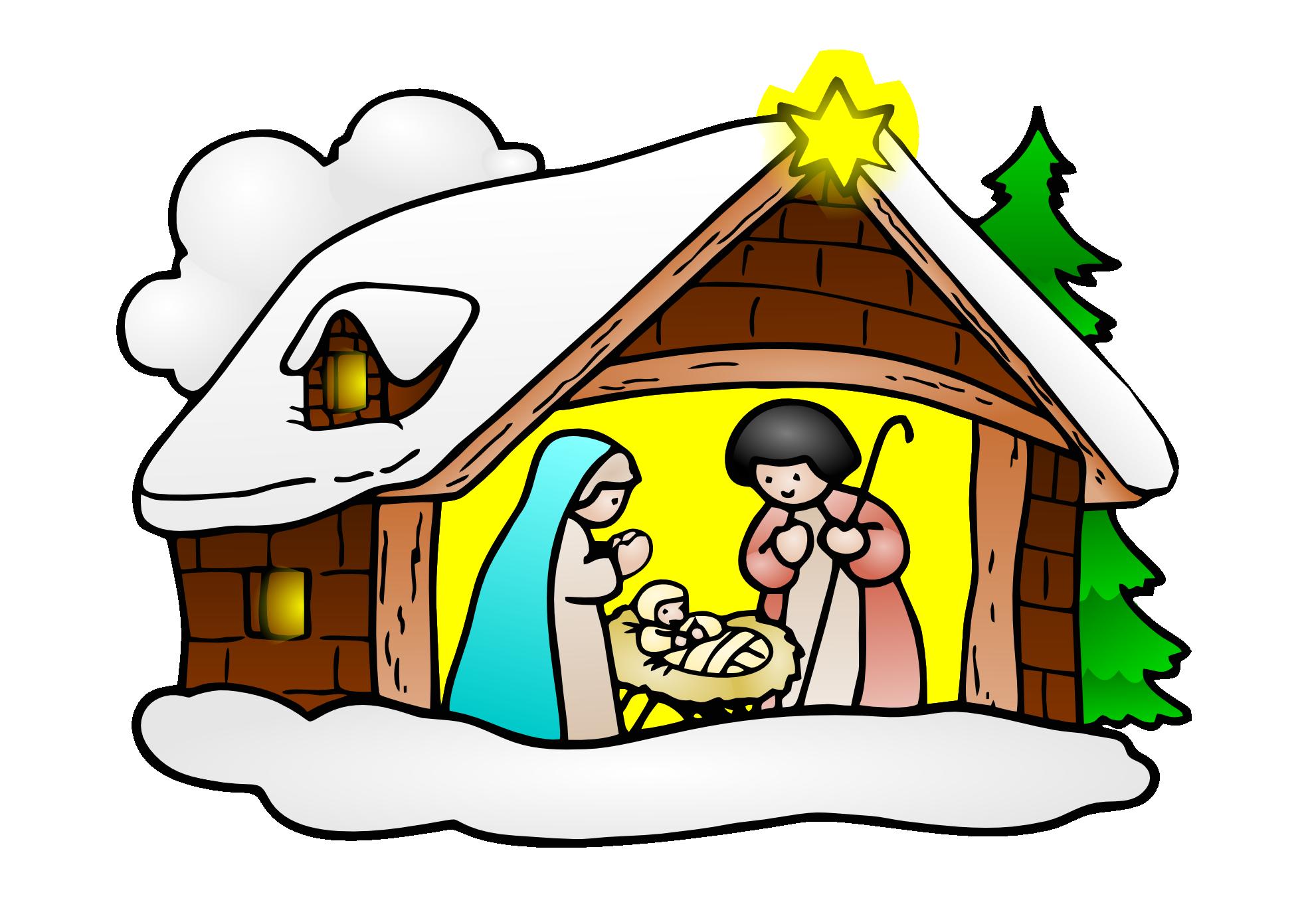 Use Public... Christmas Scenes Clipart