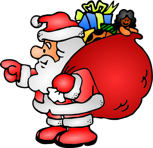 Free to Use Public Domain Chr - Cute Santa Clipart