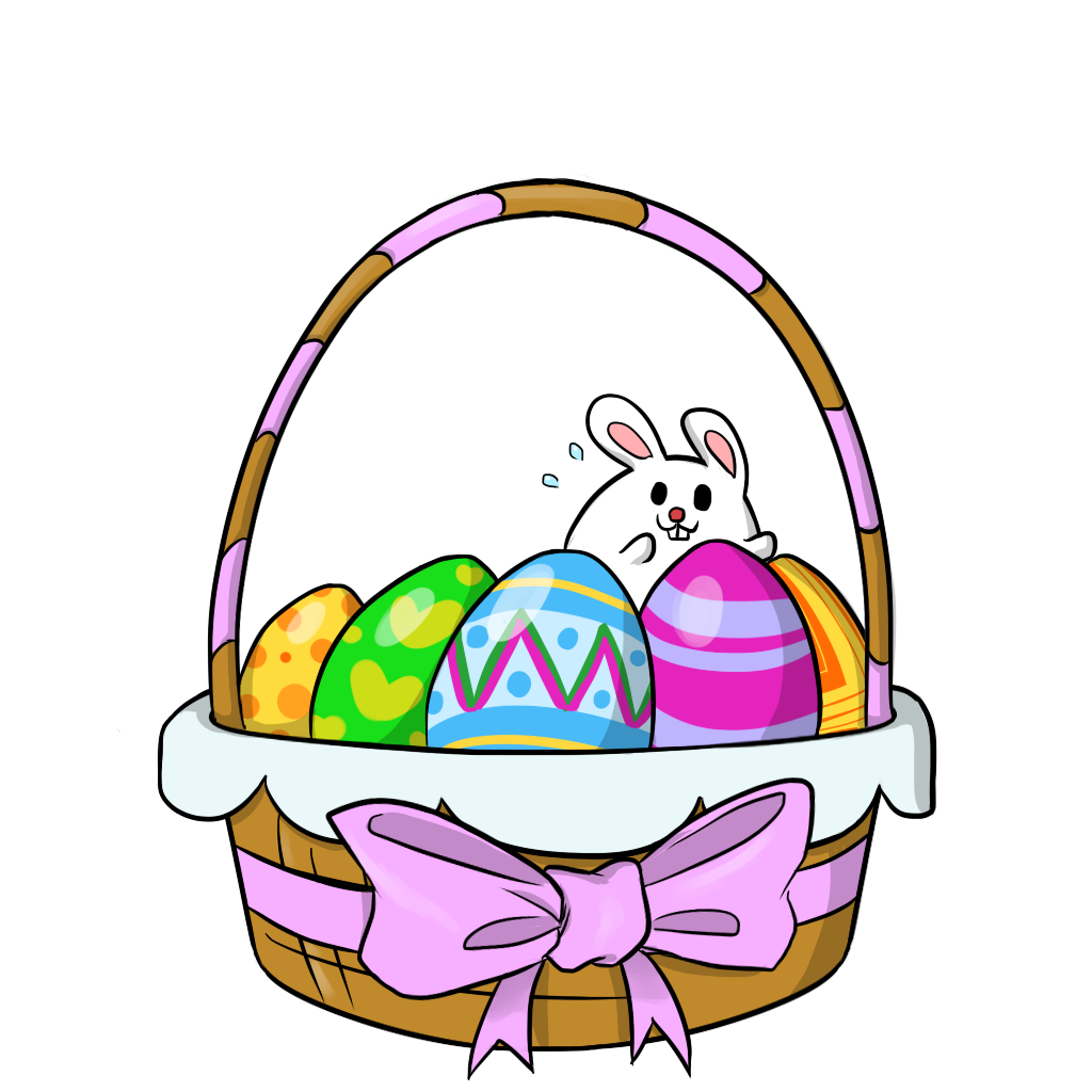 Free To Use Public Domain Easter Baskets-Free to Use Public Domain Easter Baskets Clip Art-16