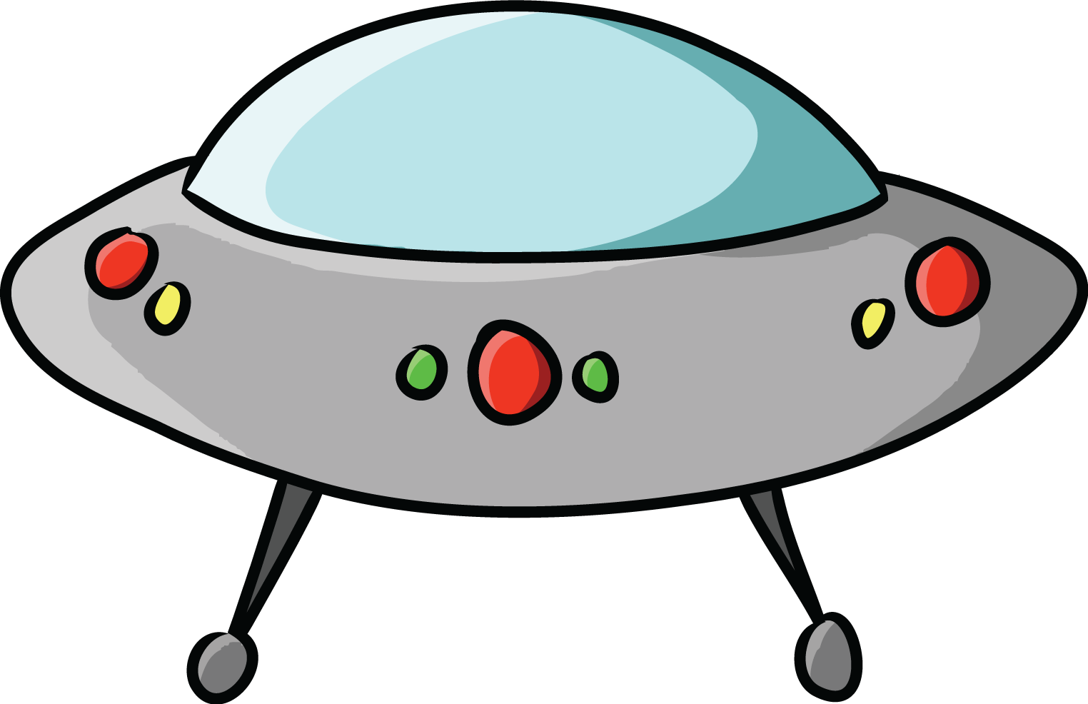 Free to Use Public Domain Flying Saucer Clip Art