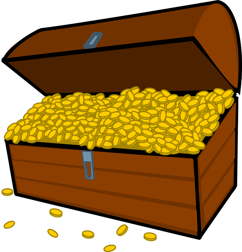 Free Treasure Chest Full of Gold Coins Clip Art