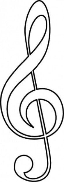 Free Treble Clef Clip Art-Free Treble Clef clip art-4