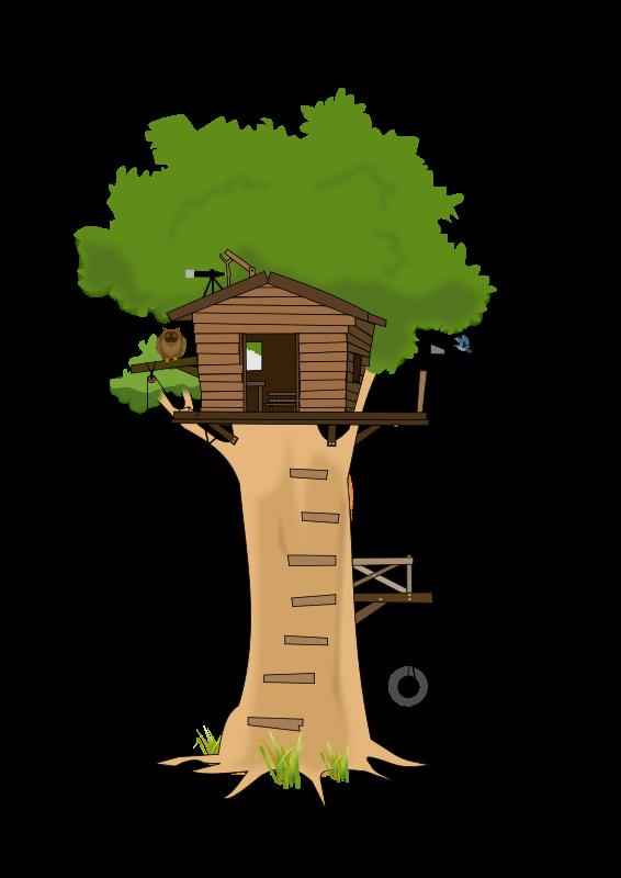 Free Tree House Clip Art