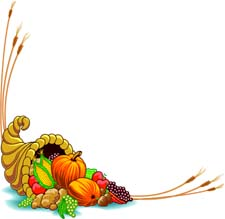 Free Turkey Borders Clipart #1