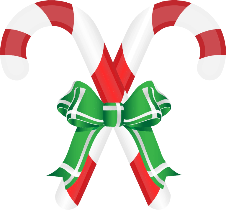 Free Two Candy Cane Clip Art