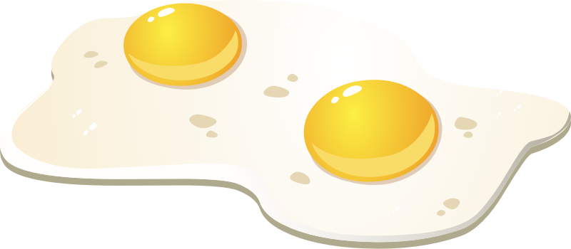 Free Two Fried Eggs Clip Art