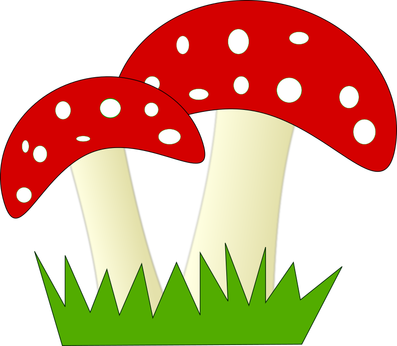 Free Two Mushrooms Clip Art