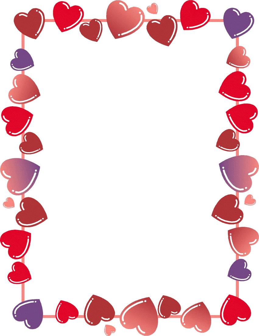 Free Valentine Borders Clipart-Free Valentine Borders Clipart-0