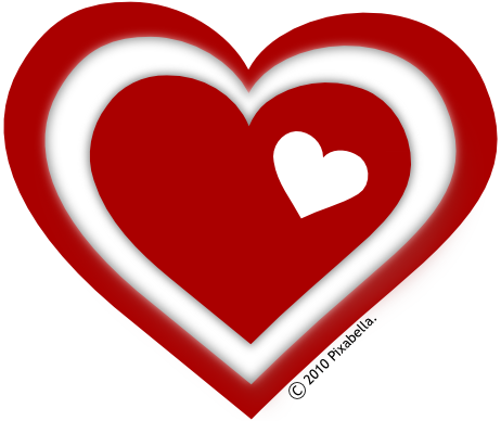 Free valentines hearts clip .