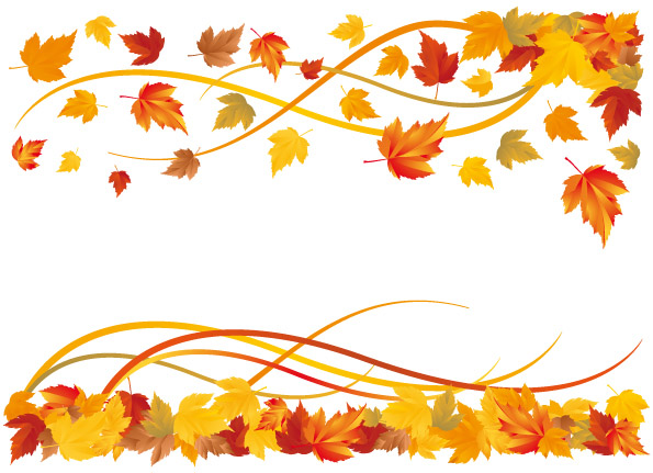 free vector 6 autumn maple .