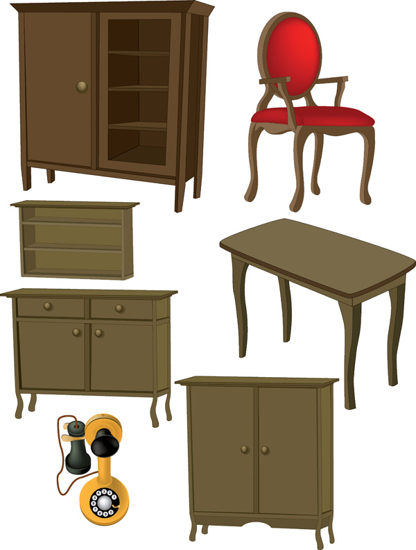 ... free vector A variety of furniture furniture clip art
