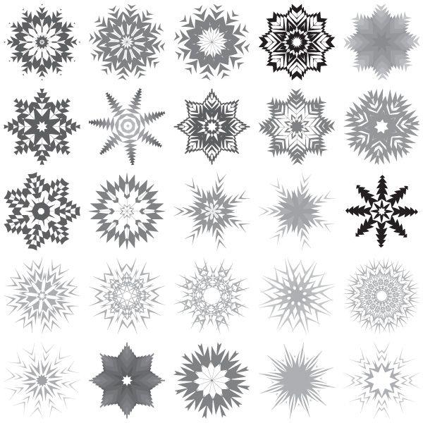 Free vector art, Snowflakes .
