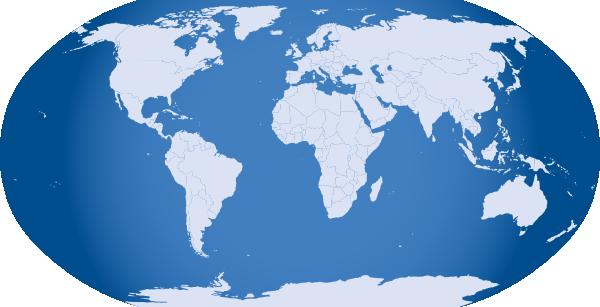 ... free vector Blue World Map clip art