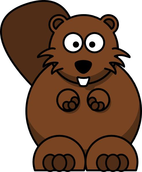 ... free vector Cartoon Beaver clip art
