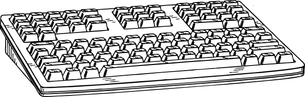 ... free vector Computer Keyboard clip art