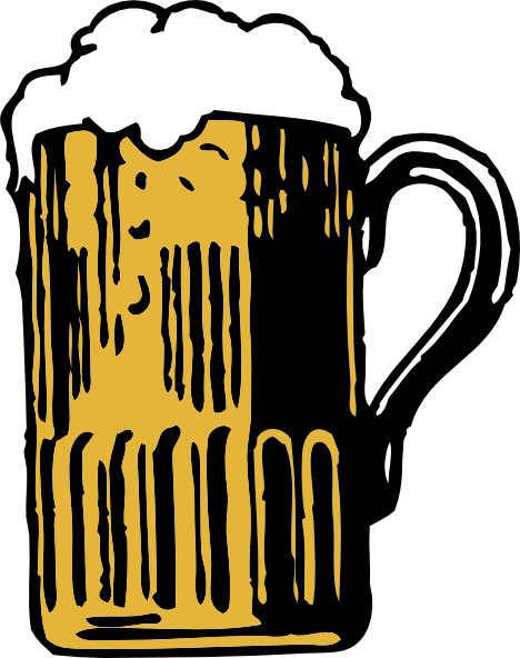 ... free vector Foamy Mug Of Beer clip art