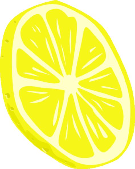 ... free vector Lemon (slice) clip art