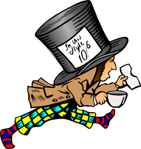 free vector Mad Hatter clip art .
