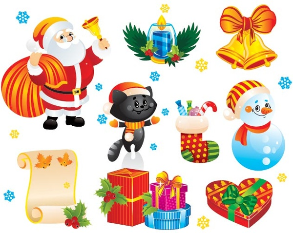 free vector merry christmas d christmas decoration clipart