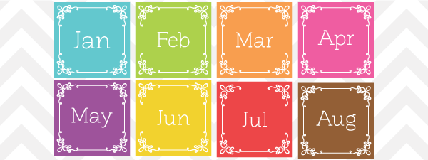 Free Vector Month And Day Clip Art Set F-Free Vector Month And Day Clip Art Set From Sonya Dehart Design-16