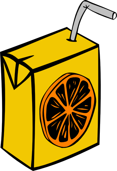 ... free vector Orange Juice Box clip art