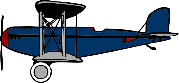 ... free vector Red Blue Bipl - Biplane Clipart