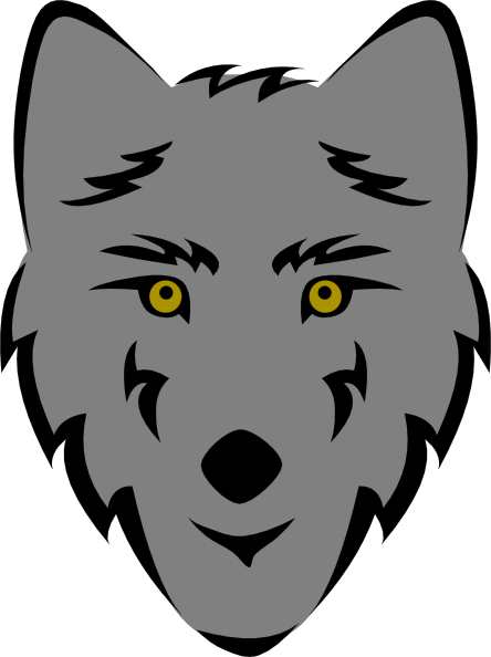 ... free vector Simple Stylized Wolf Head clip art