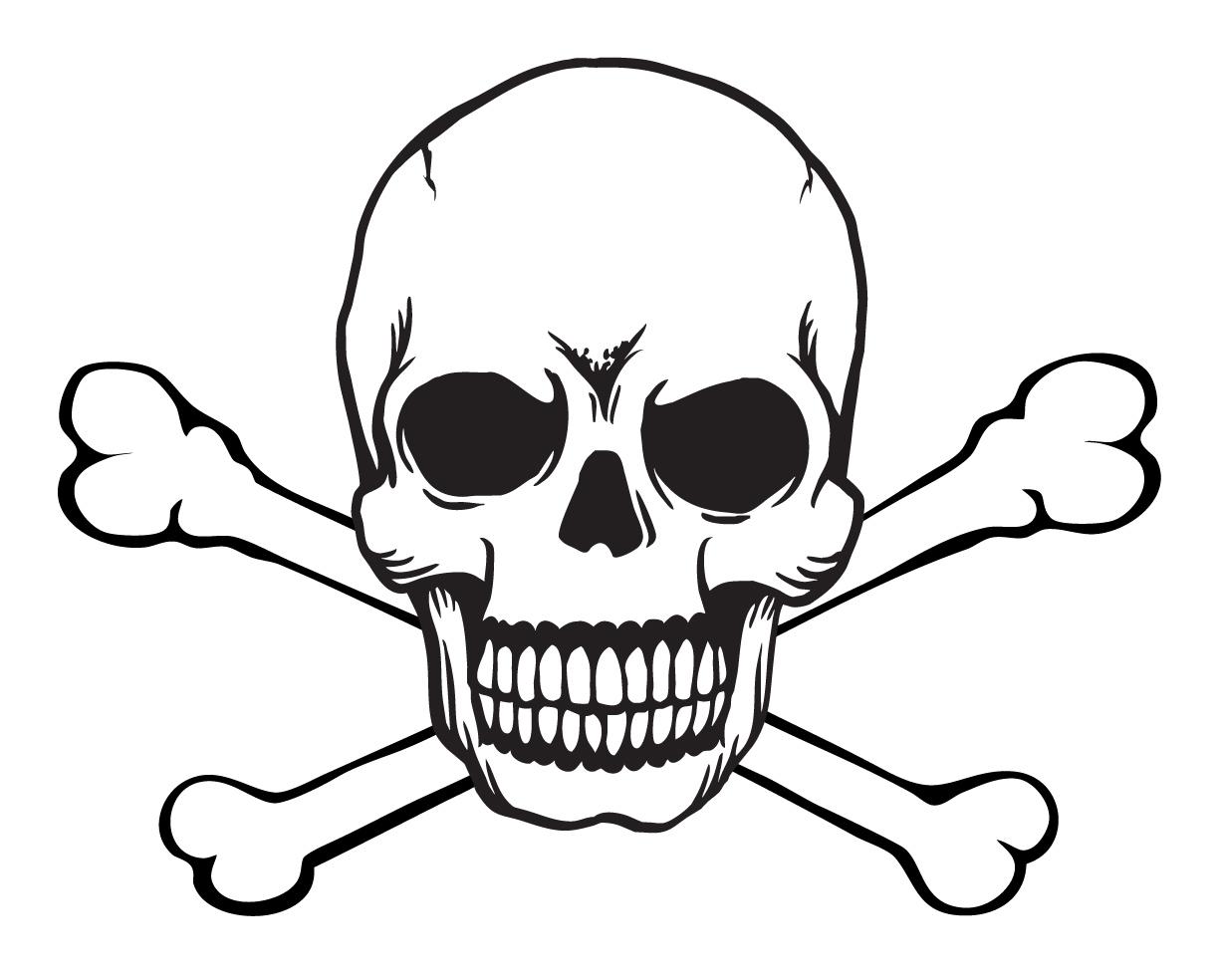 Free Vector Skull And Crossbones 133000 Skull And Crossbones Jpg