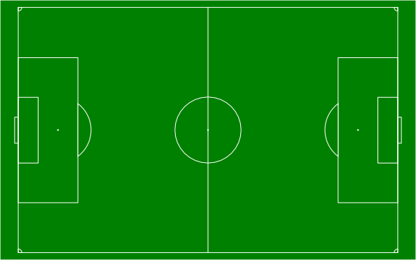 ... free vector Soccer Field Football Pitch clip art