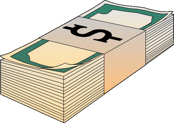 ... free vector Stack Of Bills Money clip art