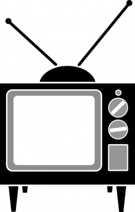 Free vector television set; T - Television Clip Art