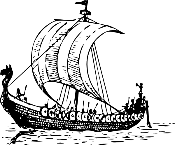 ... free vector Viking Ship clip art