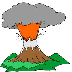 Free vector volcano clipart free clip art image image