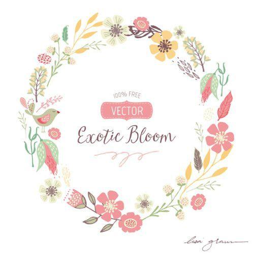 FREE Vector Wreath Clip Art. So Lovely. -FREE Vector Wreath Clip Art. So lovely. Her hand drawn clip art is divine-7