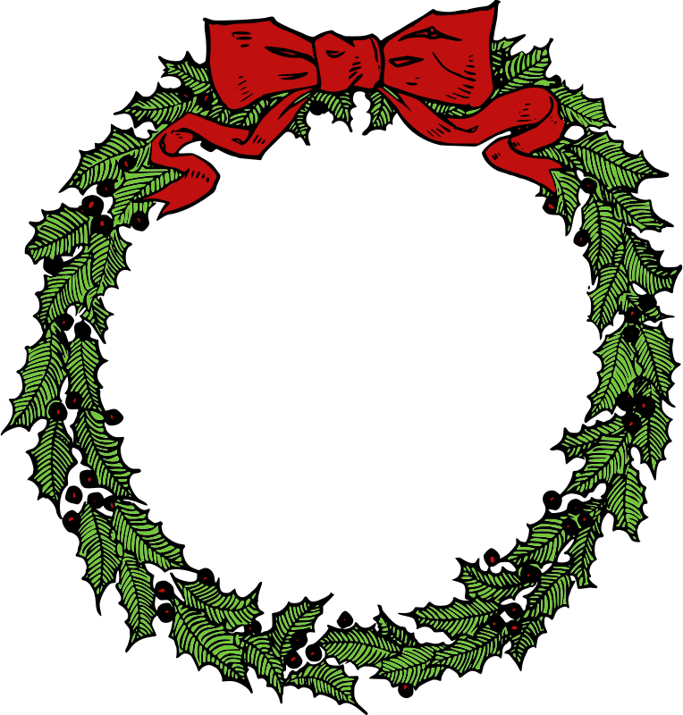 Free Vintage Christmas Wreath .