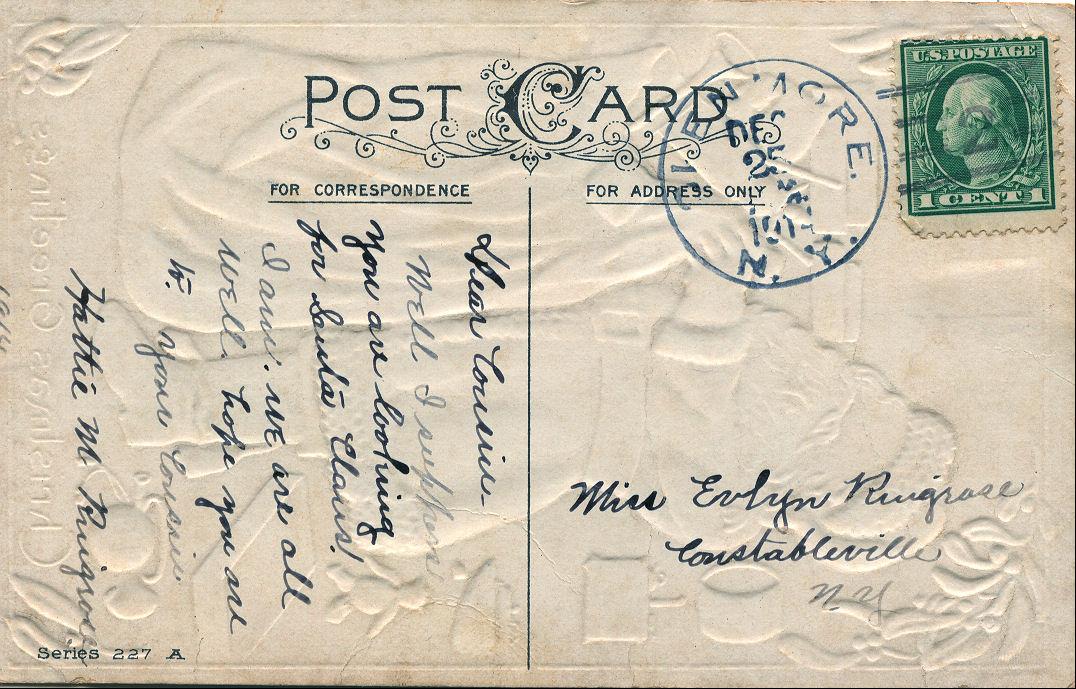 Free Vintage Clip Art u2013 Antique Santa Postcard