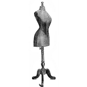Free Vintage Clip Art Dress Forms and Sewing Machines