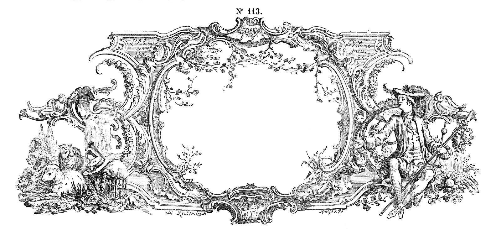 Free Vintage Clip Art u2013 Gorgeous French Frame Engraving