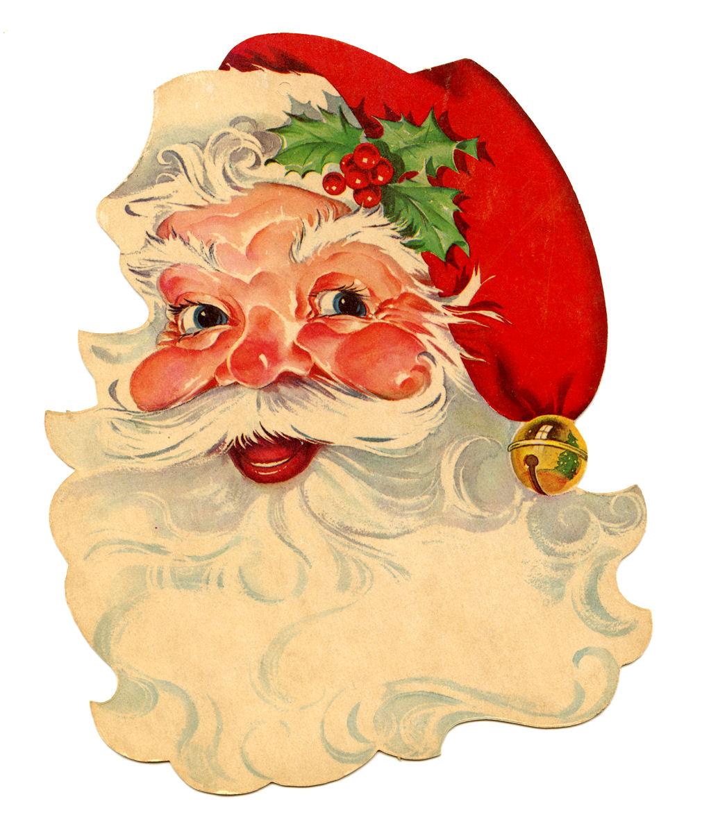 Free Vintage Clip Art U2013 Santa, Santa-Free Vintage Clip Art u2013 Santa, Santa, Santa!-12