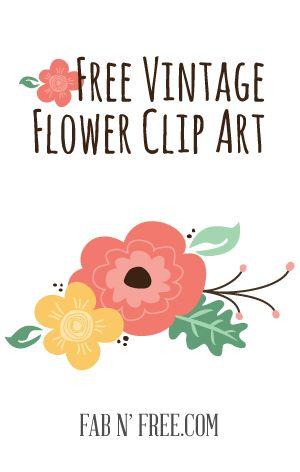 Free Vintage Flowers Clipart  - Vintage Flower Clip Art