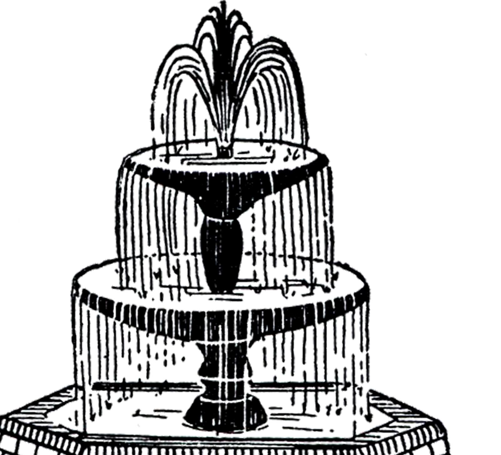 Free Vintage Fountain Clip Art!-Free Vintage Fountain Clip Art!-19