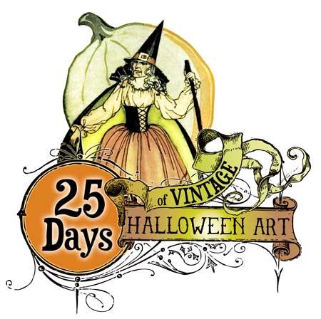 Free Vintage Halloween Images, Clip Art,-Free Vintage Halloween Images, Clip Art, and Pumpkin Carving Patterns-4