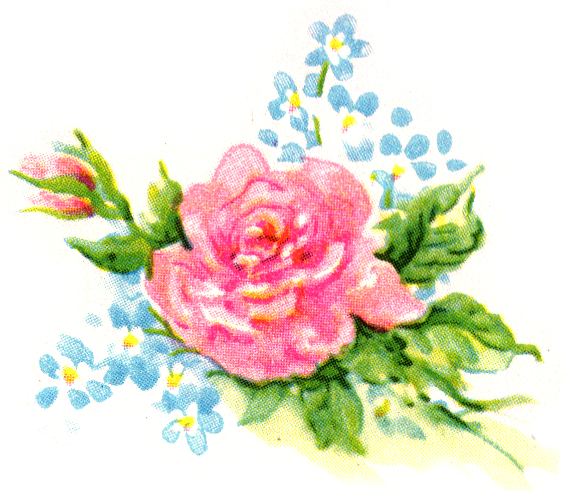 free-vintage-rose-and-flowers- .