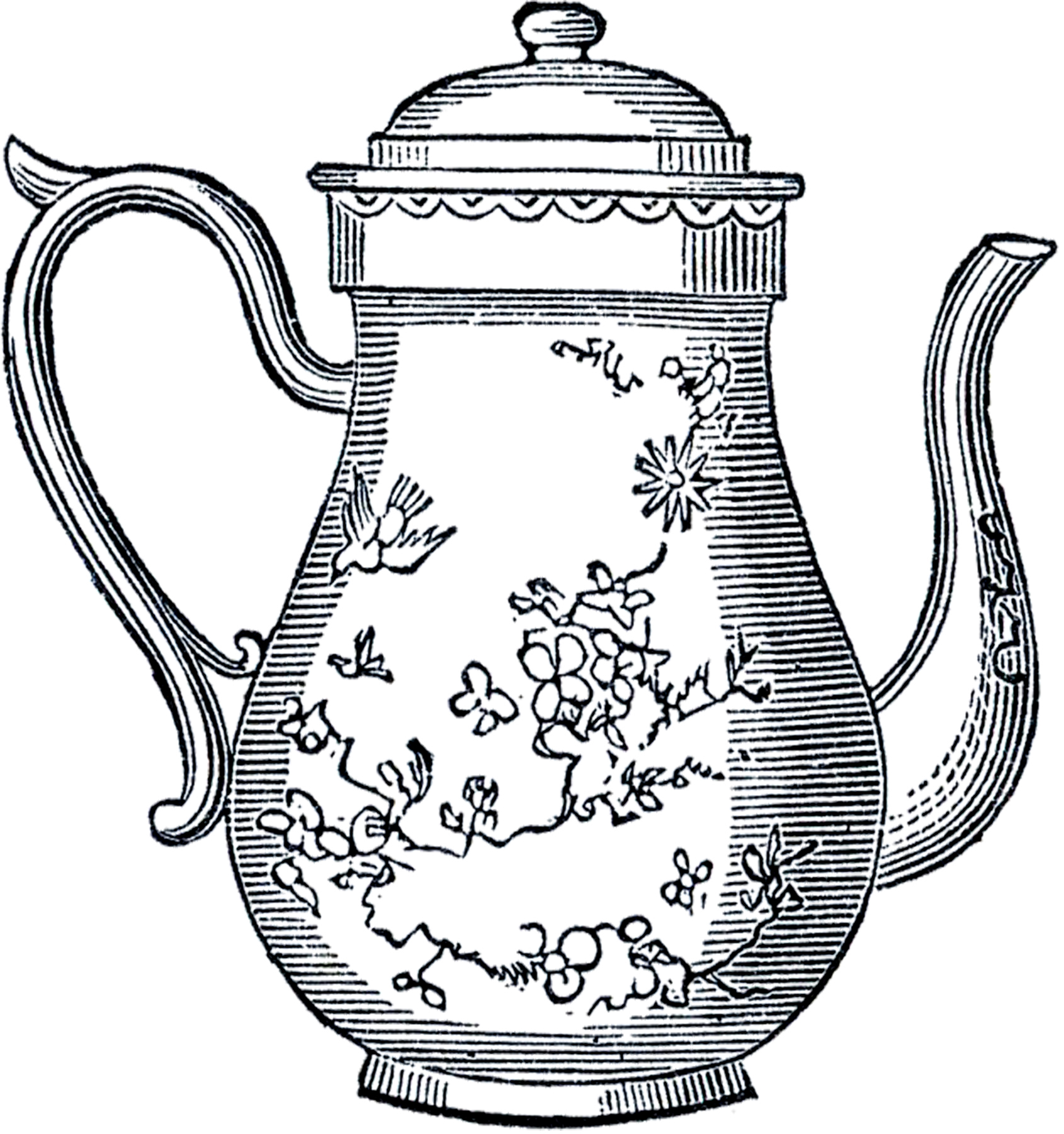 Free Vintage Teapot Clip Art-Free Vintage Teapot Clip Art-3