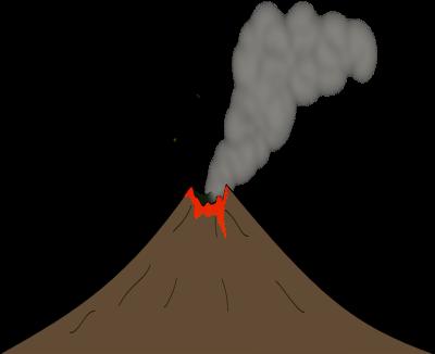 Free Volcano With Lava Clip Art-Free Volcano with Lava Clip Art-4