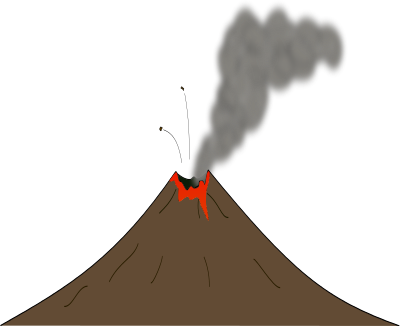 Free Volcano with Lava Clip Art